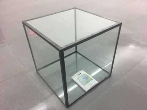 秦观伟 《内外》 61×61×61cm 金属、玻璃、书 2017