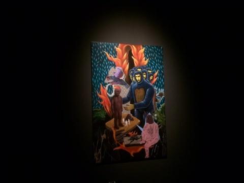 罗德 • 塔帕亚 《十个脑袋》 183 × 122 cm  布面丙烯 2017