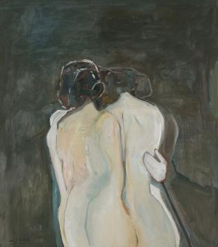 《抱团》130x115cm布面油画2017