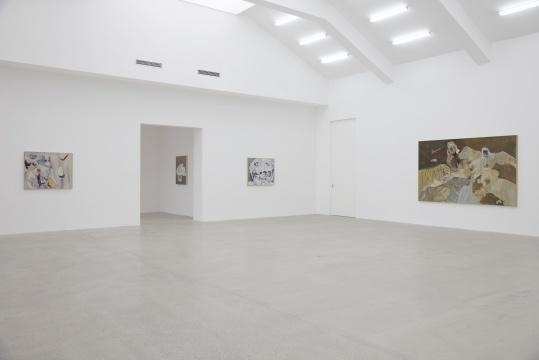 吴维佳主张在画面空间中加入线性表达,强调作品表现中的书写性,从而营造自己独有的艺术本体