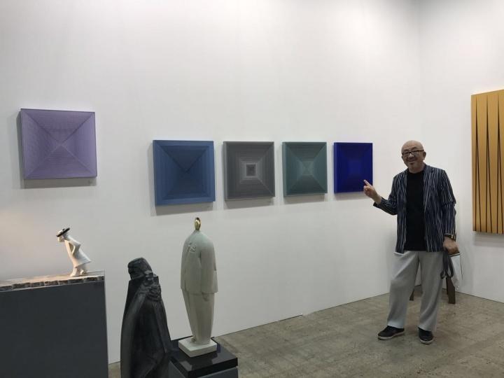 收藏家汪海涛在KIAF ART SEOUL现场