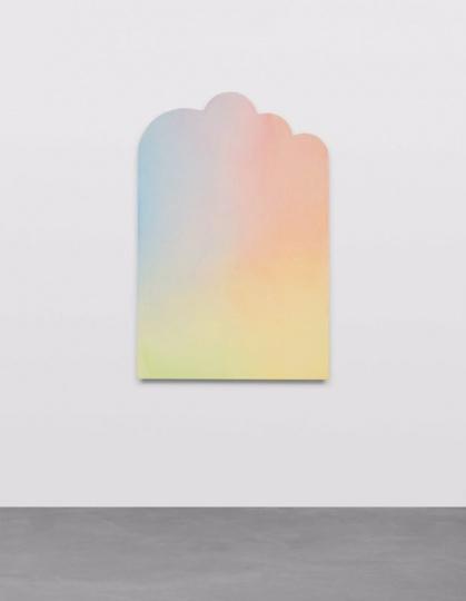 KUKJE画廊带来的Ugo Rondinone 作品《elftermarzzweitausendundsechzehn》 91.5×61cm 布面丙烯 2016