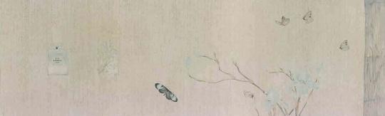 《花笺记之六 》40x131cm 纸本设色 2014