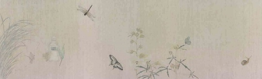 《花笺记之四》40x131cm 纸本设色 2014