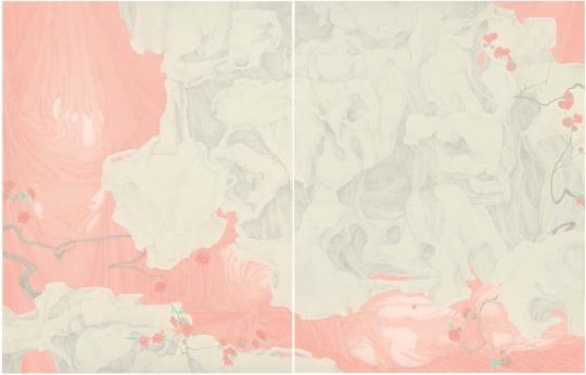 《山桃红》 绢本设色 117×182cm 2015