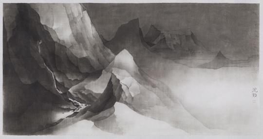 沈勤 《仿宋山水》 92×179cm 纸本水墨 2017