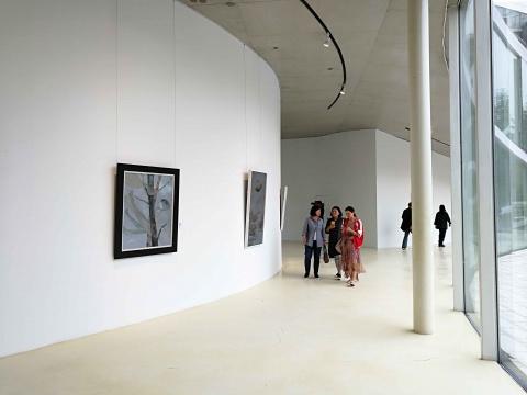 """树美术馆""""进程 进城——艺术参与社会构建的时代""""展览现场"""