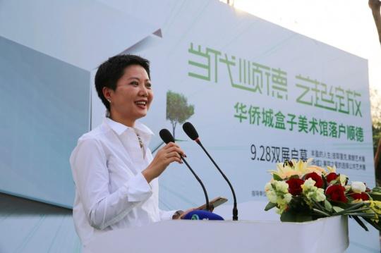 华侨城盒子美术馆艺术总监周力在开幕式上致辞