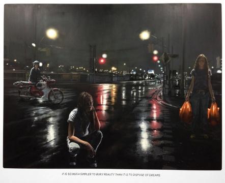 蒙泰安/罗森布拉姆 《无题》217x270cm布面油画、粉笔2016