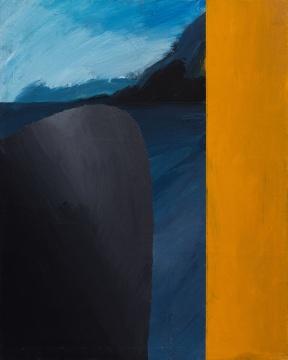 温一沛 《一处地景-No.5》 32×25cm 木板丙烯 2017