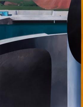 温一沛 《一处地景-No.13》 170×133cm ⽊板丙烯 2017