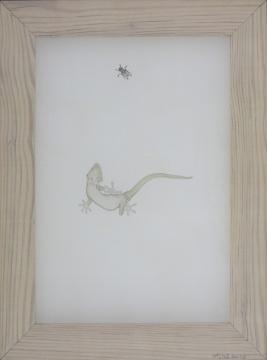 《遇见(6)》 37×24cm 绢本水墨 2016