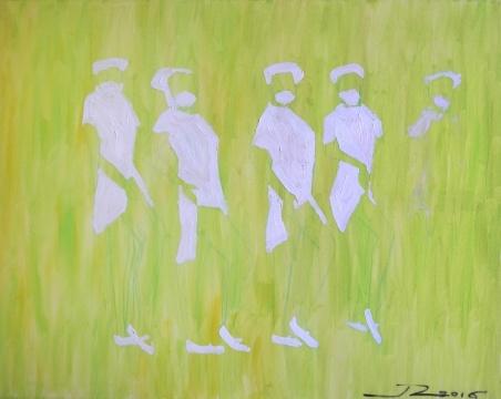 《绿色治疗》 100×80cm 布面油画2016
