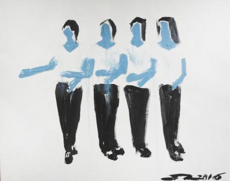 《请看下一件展品》 60×50cm 布面油画 2016