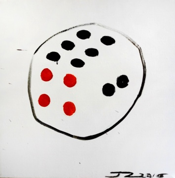 《六六六》 40×40cm 布面油画2016