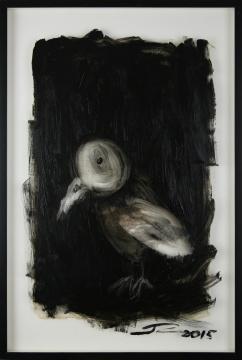 《画个鸟(2)》 65×45cm 纸本水墨 2016