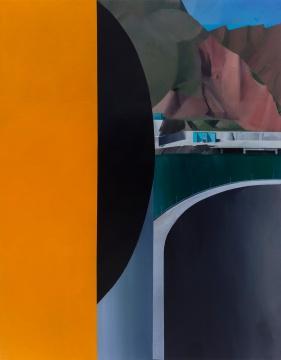 温一沛《一处地景-No.11》 170×133cm ⽊板丙烯 2017