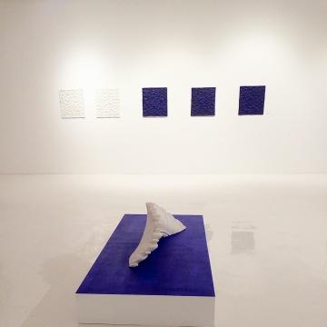 展览现场的《太极》与《四害》