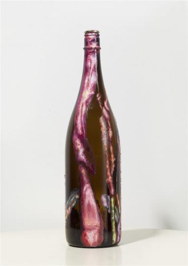 《美人蕉358》 40×10×10×3cm 瓶子、综合材料 2014