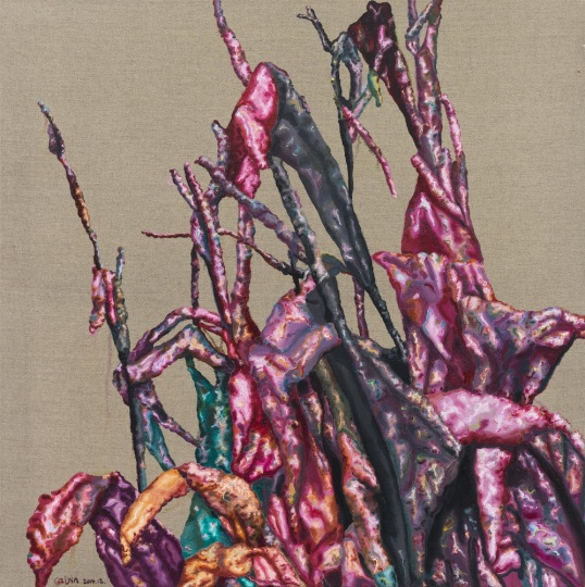 《美人蕉356》 80×80cm 布面油画 2014