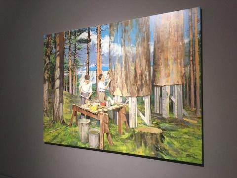 陈朗慕 《人造森林》175×240cm布面油画 2017