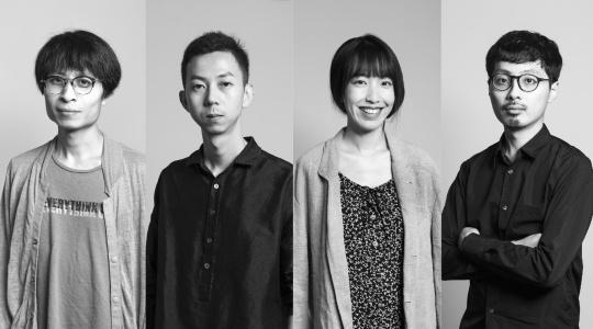 "2017""HUGO BOSS亚洲新锐艺术家大奖""入围艺术家:李明、陶辉、于吉、赵仁辉(从左到右)"