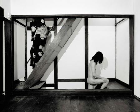 黄锐+荣荣 《楼梯》尺寸可变 数字微喷 1999