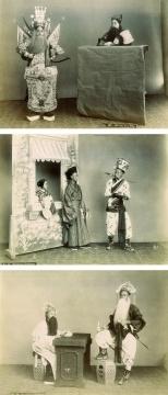 洛伦佐·费斯勒(传) 《清末上海戏装照 (3张)》 蛋白照片 21×27cm 1870