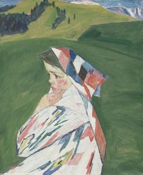 新疆姑娘 60×72cm 1987年