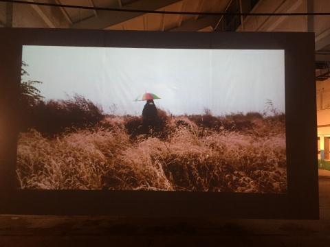 张锰 《独流碱河》 7分7秒 三屏影像 2012
