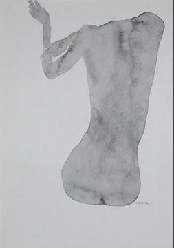 吴雪莲《缺失》29.5×21cm,纸面水墨,2004