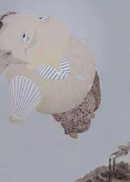 郝建涛《看看,看看看4》200×150cm,布面综合材料,2007