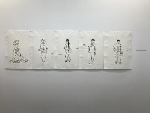 仝天庆《我们》系列之五 61×45cm×5 2017