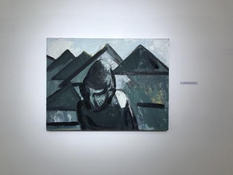 刘晓辉《无题-远山》 60×80cm 2017