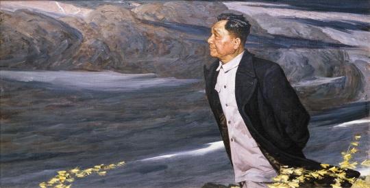 《疾风 》 140x70 cm 布面油画  1976 第五届全国美术作品展览 中国美术馆收藏