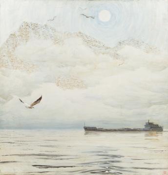 《霜降》  100X94cm 布面油画 19811981年四人作品联展 1982年法国春季沙龙大展