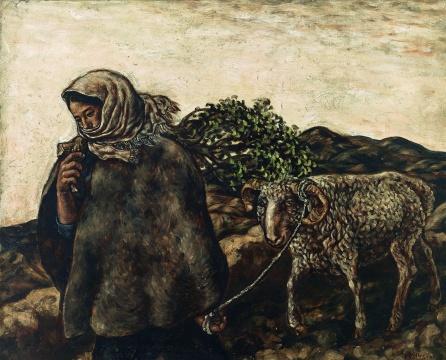 张晓刚《草原组画:晚风》78×95.3cm布面油彩1984年