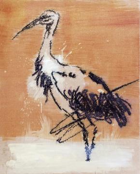 叶永青《画鸟》100×80cm布面丙烯2010年