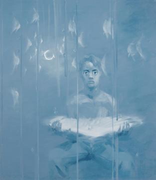 谢南星《十个自扮像:羽翼》155×135cm 布面油彩  1997年