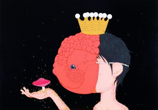 郝朗《金鱼王子》140×200cm布面丙烯 2009年