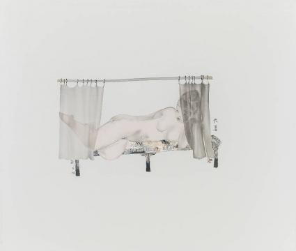 《二十四节气---大暑》 55×65cm 绢本水墨2017