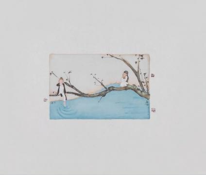 《二十四节气---谷雨》 55×65cm 绢本水墨2017
