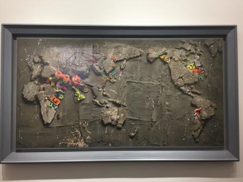 冷军《世纪风景之三》 105 × 200cm 布面油画1995