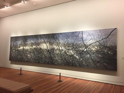 曾梵志 《无题10-03-01》 200×800cm 布面油画 2010