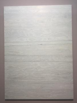 《木/罅NO.10》205×281×5cm 实木拼合内板 墨 绡 漆 丝线 铁钉 2017
