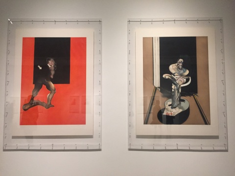 """""""MAKING / 造"""" 弗朗西斯·培根 《人体研究》、《坐着的人像》135×100cm 蚀刻、飞尘和干刻 1992"""