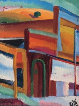 Lot 791 朱沅芷 《旧金山街景》 27.5×20.3cm 油彩画板 1926  估价:58万-78万港元    伍劲:香港蘇富比有一张估价过亿的朱沅芷的作品后,他开始成为大家关注的艺术家。这张朱沅芷1920年代的作品,属于艺术家个人的立体主义时期,虽然很小,但十分有趣。画的很轻松,也很完整。