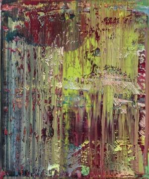 TOP4格哈德·里希特 《抽象画(679-2)》120×100cm 油画画布 画框 1988  成交价: 4903.75万港元(估价:3200万-4800万港元)