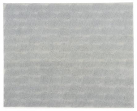 TOP10 朴栖甫 《描法NO.38-75》 铅笔及油画画布 1975  成交价: 1330万港元,刷新艺术家个人拍卖纪录(估价:600万-800万港元)