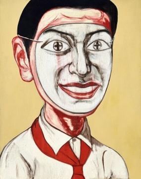 曾梵志 《三年级一班系列第二十五号》 48×38cm 油彩画布 1996  成交价:177万港元(估价:120万-180万港元,少励家族藏中国当代艺术专场)